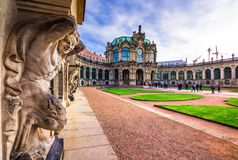 Zwinger palace, art gallery and museum in Dresden, Germany. Zwinger palace, art gallery and museum in Dresden, Germany on February 20, 2018 Royalty Free Stock Images