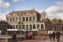 The Zwinger Palace and Building of the Old Masters Picture Galle Stock Photo