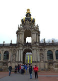 Zwinger Palace Crown Gate Stock Photos