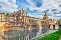 Zwinger Palace (Der Dresdner Zwinger) Art Gallery of Dresden, wh Stock Images