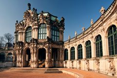 The Zwinger - palace in Dresden Royalty Free Stock Photos
