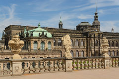 The Zwinger palace and the Dresden castle Stock Photography