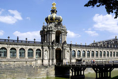 Zwinger palace in Dresden with crown gate Royalty Free Stock Photo