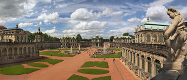 Panoramic view of Zwinger palace, Dresden - Germany Royalty Free Stock Photo