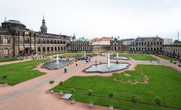 Zwinger palace in Dresden, Germany Royalty Free Stock Photos