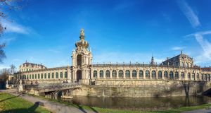 Zwinger Palace in Dresden, Germany. Panoramic view. Stock Photo
