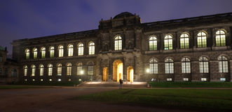 Zwinger Palace at Dresden in night Royalty Free Stock Photos