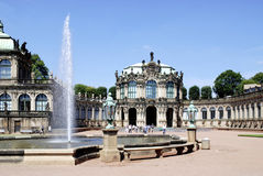 Zwinger Palace in Dresden Royalty Free Stock Photo