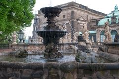Zwinger Palace Fountain Royalty Free Stock Images