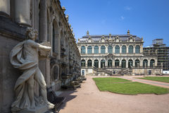 Zwinger Palace, museum complex in Dresden Royalty Free Stock Photo