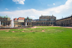 Zwinger Palace, museum complex in Dresden Stock Image