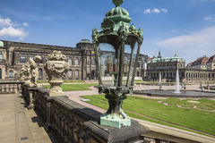 Zwinger Palace, museum complex in Dresden Stock Photos