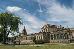 The Zwinger palace. A view of the Zwinger complex at the historical center of Dresden, Germany Royalty Free Stock Photos