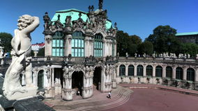 Zwinger palace, XVIII century - famous historic building  in Dresden stock video