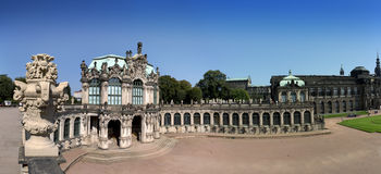 Zwinger palace, XVIII century - famous historic building in Dresden.  Stock Photos