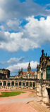 Zwinger palace yard in Dresden Royalty Free Stock Photo