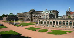 Zwinger (panorama). The Zwinger Palace in Dresden is a major German landmark Royalty Free Stock Images
