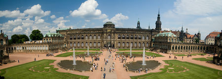 Zwinger Panoramic stock images