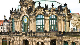 Zwinger Semperbau carillon. Zwinger Semperbau watch and carillon, Dresden, Germany Royalty Free Stock Photo