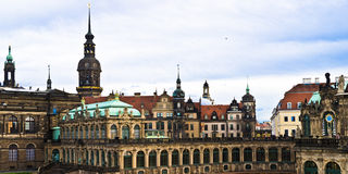 Zwinger Semperbau panoram Royalty Free Stock Image
