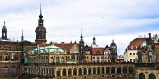 Zwinger Semperbau panorama Obraz Royalty Free