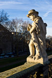 Zwinger Semperbau statua Obraz Stock