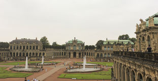Zwinger slott Dresden, Tyskland Arkivbilder