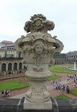 Zwinger slott Dresden, Tyskland Arkivbild