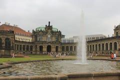 Zwinger slott Dresden, Tyskland Fotografering för Bildbyråer