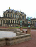 Zwinger slottborggård Dresden Arkivfoto
