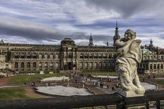 Zwinger van Dresden in Duitsland stock afbeeldingen