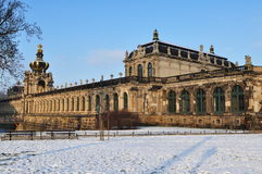 Zwinger in winter time Stock Photography
