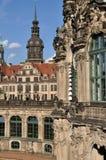 Zwinger y castillo, Dresden Imagen de archivo libre de regalías