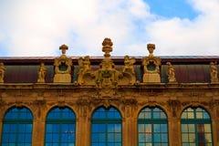 Zwingerkunstgalerie en museum in Dresden, Saksen Duitsland royalty-vrije stock afbeeldingen