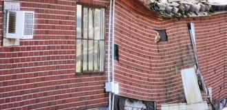 Zwisający brickwork Zdjęcie Royalty Free