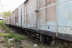 Zwischen Blockwagen des thailändischen Zugs Lizenzfreies Stockfoto