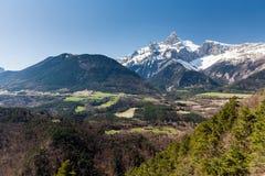 Zwischen den Städten Gap und Grenoble, Frankreich lizenzfreie stockbilder