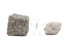 Zwischen einem Felsen und einem harten Platz Lizenzfreie Stockfotos