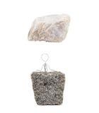 Zwischen einem Felsen und einem harten Platz Stockfotos