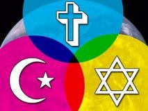 Zwischen Glaubensrichtungendialog lizenzfreie abbildung