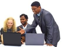 Zwischen verschiedenen Rassen Geschäftsteam Stockfotos