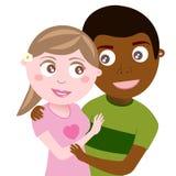 Zwischen verschiedenen Rassen Paare Stockfotografie