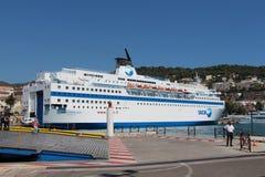 Zwischenlage in Port de Nice Lizenzfreie Stockbilder