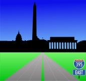 Zwischenstaatlich zum Washington DC Stockfotos