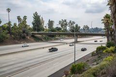 Zwischenstaatliche Autobahn 210 in Kalifornien Lizenzfreie Stockfotografie