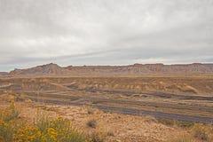 Zwischenstaatliche 70, eine Utah-Wüsten-Landstraße Stockbild