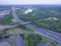 Zwischenstaatlicher Austausch in Peabody, MA Lizenzfreies Stockfoto