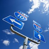 Zwischenstaatliches Zeichen 10. Stockbilder