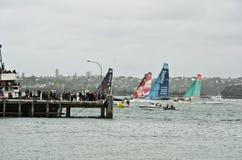 Zwischenstation des Volvo-Ozeans Race.Auckland. Stockfotografie