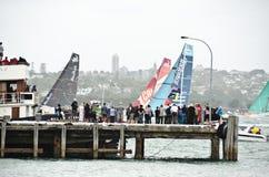 Zwischenstation des Volvo-Ozeans Race.Auckland. Stockfoto